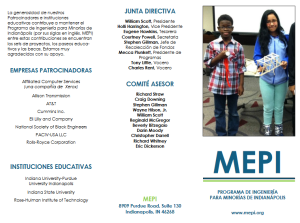 MEPI Spanish Brochure 2016 - outside cover image